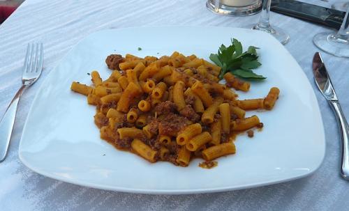 Spaghetti Carbonara mit Makkaroni