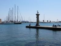 Hirsch: Wappentier am Hafen