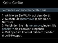 Mobiler WLAN Hotspot Einstellungen