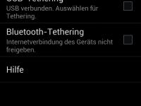 Tethering und mobiler Hotspot