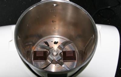 Mark der Vanilleschote und zartbittere Kuvertüre im Thermomix